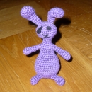 Amigurumi bunny designed from an original drawing by Monique Theelen-Geurts