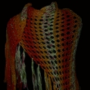 Orange shawl