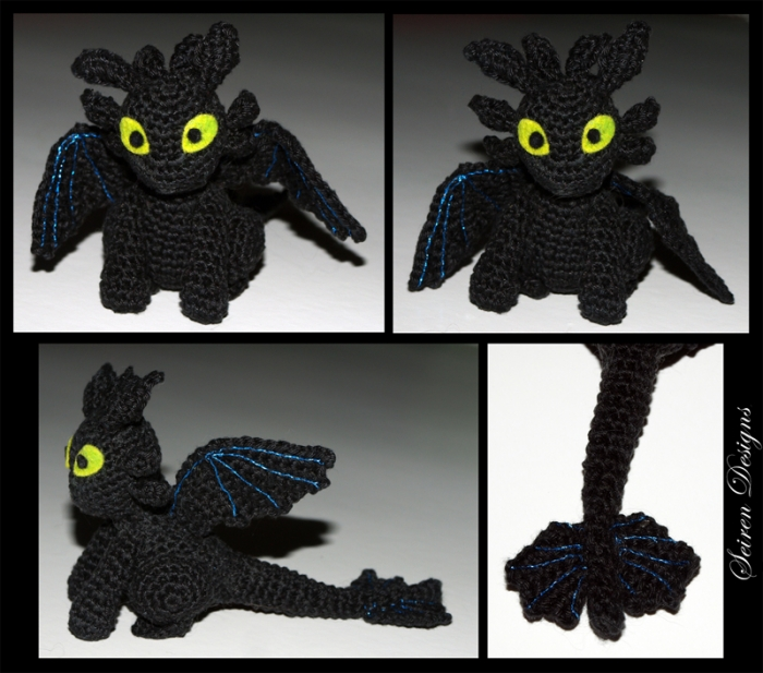 Good evening Reddit Crochet-ers, Toothless the dragon is now done ... | 617x700