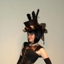 High hat with a steampunk theme. Photo ©Maria Helena Stanke